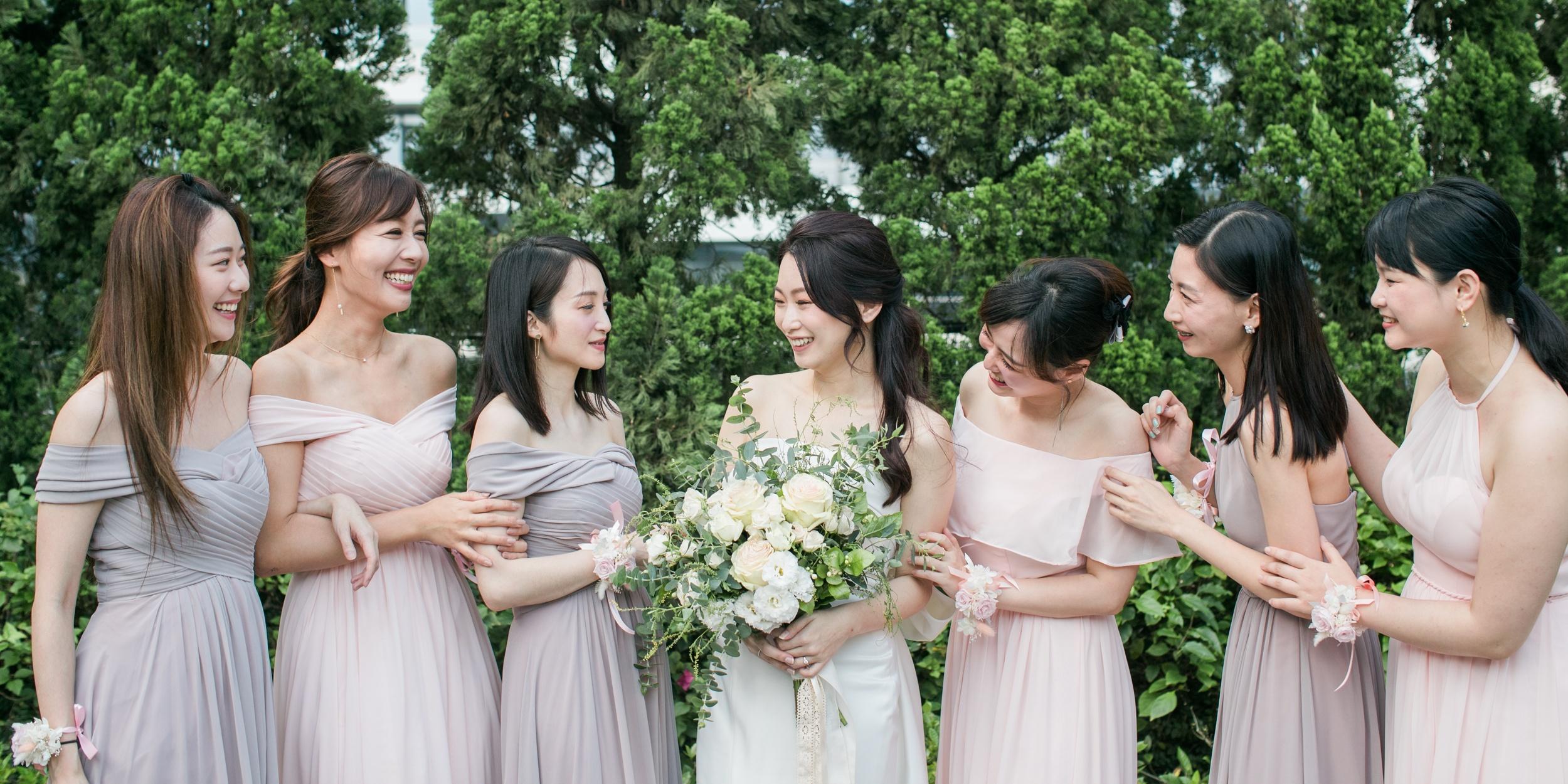 婚禮籌備.裸粉色系淘寶伴娘服、伴娘禮、伴娘注意事項
